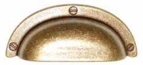 Komgreep Brons Antiek 64 mm