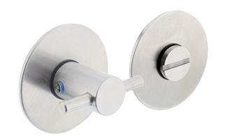 WC-sluiting 8 mm Renovatie Zelfklevend Rond Plat 55x2 mm RVS