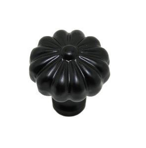 Knop 21 mm ijzer zwart