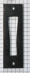 Contraplaatje tbv WC sluiting met hefboom zwart