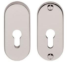 SKG*** Veiligheid-rozet Ovaal chroom