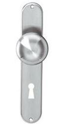 Knopschild ovaal 220x41 mm SL56 RVS