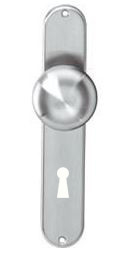 Knopschild ovaal 220x41 mm SL72 RVS