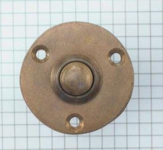 Beldrukker Rond Messing Antiek 40 mm