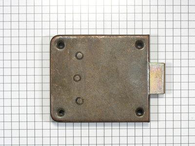 Opdekslot verbronsd penmaat 45 mm