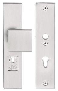 Veiligheidsbeslag met kerntrek beveiliging SQUARE LSQ60-50KT knop/kruk SKG*** RVS PC72
