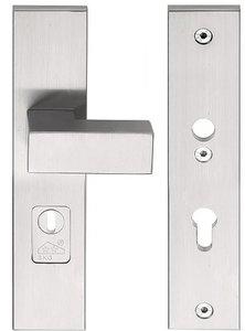 Veiligheidsbeslag met kerntrek beveiliging SQUARE LSQ50-50KT knop/kruk SKG*** RVS PC92