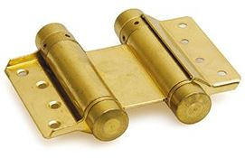 Bommer scharnier Dubbelwerkend 125 mm Vermessingd
