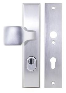 Buva Voordeurgarnituur met Kerntrekbeveiliging Serie 3400 PC72 SKG*** Aluminium F1