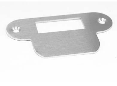 Dulimex Sluitplaat Rondhoekig RVS voor loopslot