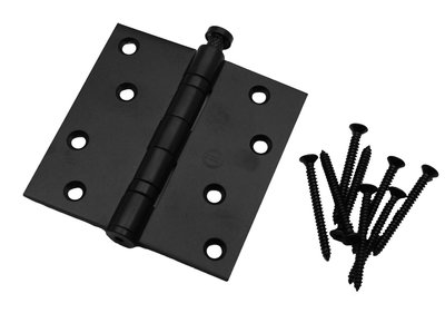 Kogellagerscharnier 89x89 mm rechte hoek zwart