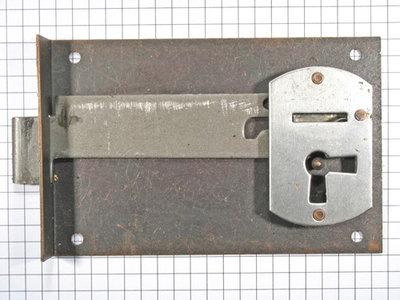 Halfopdekslot verbronsd penmaat 80 mm Rechts