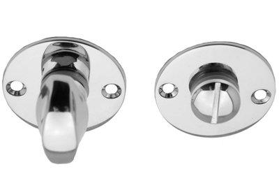 Toiletgarnituur Rond Plat Glans Nikkel