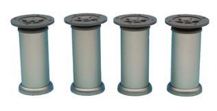 Set van 4 Meubelpoten Aluminium 150 mm