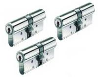 Set van 3 BKS Veiligheidscilinders SKG** 30/30
