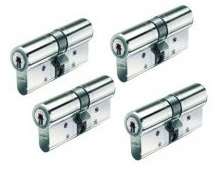 Set van 4 BKS Veiligheidscilinders SKG** 30/30