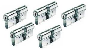 Set van 5 BKS Veiligheidscilinders SKG** 30/30