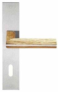 Deurkruk op schild Sleutelgat PIET BOON PBL22P236N Mat RVS/Eikenhout