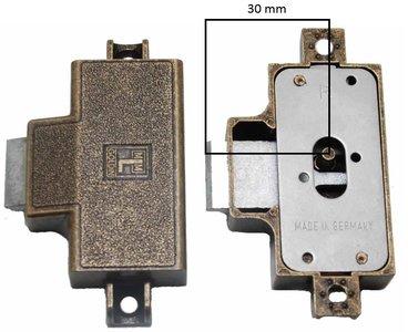 Spanjoletslot 30 mm Rechts Brons