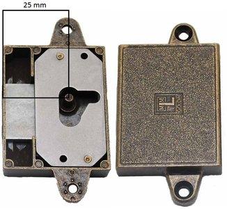 Meubelslot 25 mm rechts brons