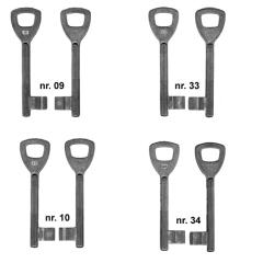 AXA bontebaardsleutel nr. 09 (voor AXA klavierslot 7135)