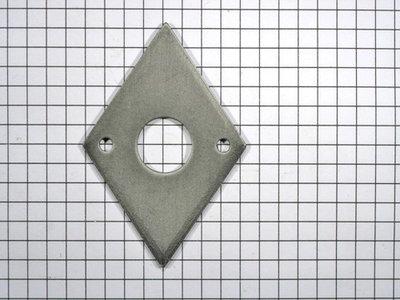 Achterplaat ruit ijzer mat