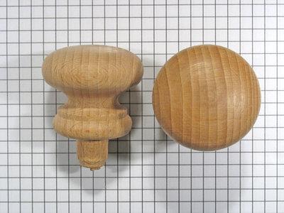 Meubelknop beuken 38 mm