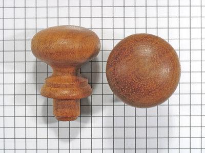 Meubelknop mahonie 30 mm