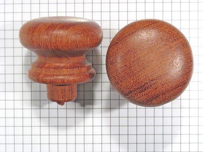 Meubelknop mahonie 44 mm