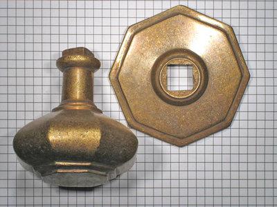 Deurknop brons antiek