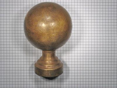 Deurknop brons antiek 80 mm