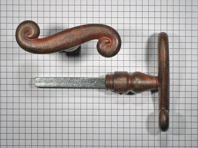 Set deurkrukken ijzer geroest