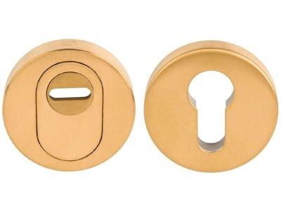 SKG*** Veiligheid-Rozet Met Kerntrekbeveiliging PVD Mat Goud