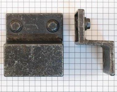 Industrieknop oud ijzerkleur 32 mm