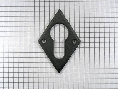 Sleutelplaat voor cylinderslot, ijzer zwart