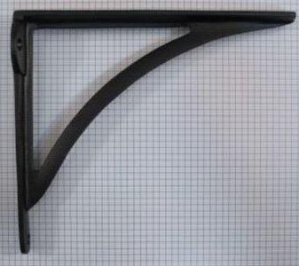 Plankdrager 213 x 185 mm ijzer Zwart