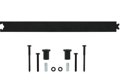 Tussenrail 45 cm tbv schuifdeursysteem mat zwart