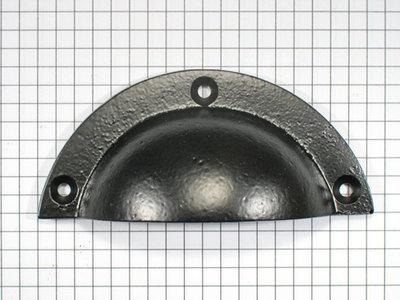 Komgreep ijzer zwart 93 mm