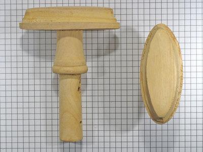 Deurkruk lindehout ovaal met pen