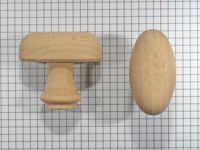 Deurkruk beuken klein zonder pen