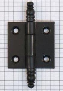 Deurscharnier 50 x 50 mm, ijzer mat zwart gelakt