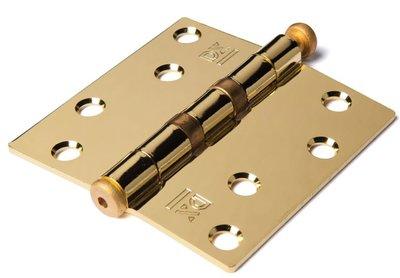 Kogellagerscharnier 89x89 mm rechte hoek losse pen vermessingd