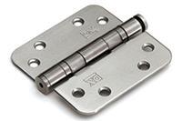 Kogellagerscharnier doorgezet 89x89 mm ronde hoek losse pen