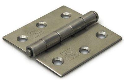 Scharnier 63x63 mm rechte hoek losse pen RVS