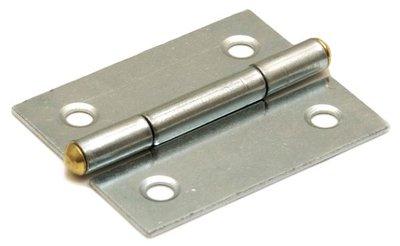 Scharnier blank verzinkt 30x26 mm