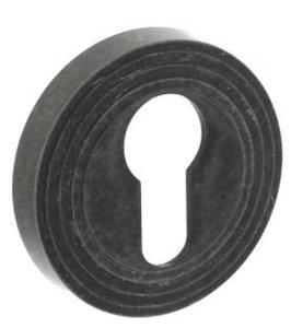 PC-Plaatje rond met ril oud grijs