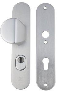 Buva Voordeurgarnituur met Kerntrekbeveiliging Serie 3500 PC72 SKG*** Aluminium F1