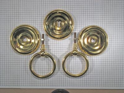 Set ringbeslag met massieve ring