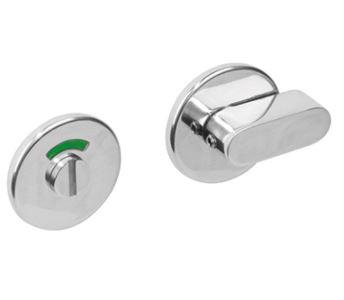 WC-sluiting 8mm rond plat verdekt RVS Gepolijst