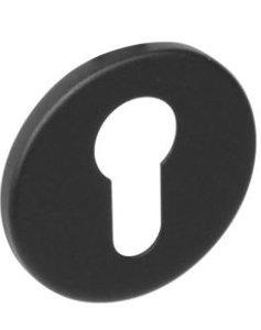 PC-plaatje rond plat verdekt RVS-mat zwart
